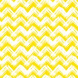 Chevron pattern hand painted with brushstrokes. Vector seamless chevron pattern hand painted with bold brushstrokes in bright yellow can be used for print Stock Image