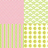 Chevron Pattern Herringbone Daisy Flower Royalty Free Stock Photography