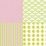 Chevron Pattern Herringbone Daisy Flower Royalty Free Stock Photography