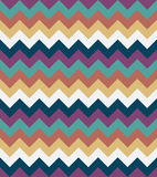 Chevron pattern seamless vector arrows  design colorful beige white brown blue aqua Royalty Free Stock Photo