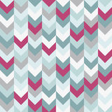 Chevron pattern seamless vector arrows  design colorful white pink light blue grey aqua Stock Images