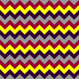 Chevron pattern seamless vector arrows  design colorful yellow grey black dark red Stock Photography