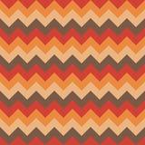 Chevron pattern seamless vector arrows geometric design colorful beige orange yellow brown pastel retro vintage Stock Photo