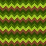 Chevron pattern seamless vector arrows geometric design colorful brown dark green light green Royalty Free Stock Photography