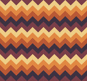 Chevron pattern seamless vector arrows geometric design colorful light and dark brown beige orange Royalty Free Stock Photos