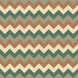 Chevron pattern seamless vector arrows geometric design colorful pastel dark green beige brown Royalty Free Stock Images