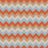 Chevron pattern seamless vector arrows geometric design colorful pastel retro vintage orange brown beige aqua blue Royalty Free Stock Photos