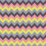 Chevron pattern seamless vector arrows geometric design colorful pastel yellow pink blue purple Royalty Free Stock Images