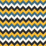 Chevron pattern seamless vector arrows geometric design colorful yellow blue white black turquoise Stock Images