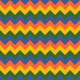 Chevron pattern seamless vector arrows geometric design colorful yellow pink green blue. Background royalty free illustration