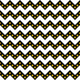 Chevron pattern seamless vector arrows and stripes design black and white with gradient golden stars Royalty Free Stock Images