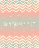 Chevron Pattern Valentine's Day Design Royalty Free Stock Images