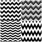 Chevron patterns. Set of vector chevron patterns Stock Photo