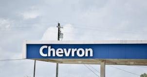Chevron Petróleo Gasolina Empresa fotos de stock royalty free