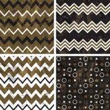 Chevron and polka dot patterns Royalty Free Stock Image