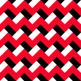 Chevron Red Black Pattern. Red, white and black zigzag seamless pattern. Abstract geometric background for business brochures, cards, website templates. Vector Stock Images