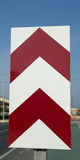 Chevron road sign Royalty Free Stock Photo