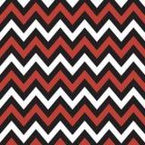 Chevron rosso e in bianco e nero Fotografie Stock Libere da Diritti