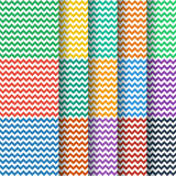 Chevron seamless pattern collection Stock Photos