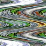 Chevron sottrae il modello con gli zigzag nel verde su fondo grigio e bianco royalty illustrazione gratis