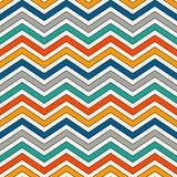 Chevron Stripes Background. Bright Seamless Pattern With Classic Geometric Ornament. Zigzag Horizontal Lines Wallpaper. Stock Photo
