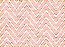 Chevron Stripes Background Pattern Pink Gold Royalty Free Stock Photo