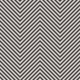 Chevron stripes seamless pattern. Vector zigzag texture. Black and white thin lines, striped zig zag. Simple abstract geometric background. Stylish repeat Stock Photo