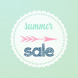 Chevron summer sale sign Stock Photo