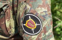 Chevron sur les uniformes de douille des forces spéciales russes Image libre de droits
