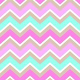Chevron turquoise white pink brown seamless pattern vector royalty free illustration