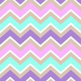 Chevron turquoise white purple pink cream color seamless pattern Royalty Free Stock Images