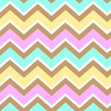 Chevron turquoise white yellow pink brown seamless pattern vecto Stock Photos