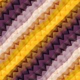 Chevron violet et jaune diagonal Photographie stock