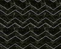 Chevron zigzag marble patterned background black and white Royalty Free Stock Images