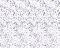Chevron zigzag marble patterned background black and white Royalty Free Stock Photography
