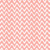 Chevron Zigzag Paint Brush Strokes Seamless pattern. Vector Abstract Grunge pink and white background Stock Image