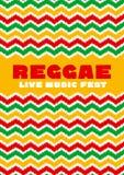 Chevron zigzag pattern reggae color music background. Stock Photography