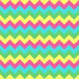 Chevron zigzag pattern seamless vector arrows geometric design. Colorful hot pink yellow green aqua blue teal Royalty Free Stock Photos