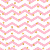 Chevron Zigzag Pink And White Seamless Pattern Stock Images