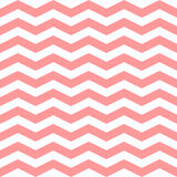 Chevron Zigzag seamless pattern. Vector pink and white colors pattern. Seamless texture for girly design. royalty free illustration