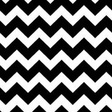 Chevrons black and white seamless pattern Stock Photo