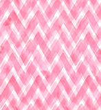 Chevrons of different shades of pink color on white background. Watercolor seamless pattern for fabric Royalty Free Stock Images