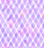 Chevrons of purple and pink colors on white background. Watercolor seamless pattern for fabric Royalty Free Stock Images