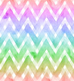 Chevrons of rainbow colors on white background. Watercolor seamless pattern for fabric royalty free illustration