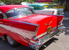 1956 and 1957 Chevy Automobiles Royalty Free Stock Photos