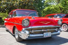 Chevy Bel Air Automobile 1957 Imagenes de archivo