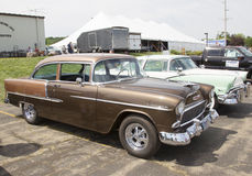 1955 Chevy Bel Air Copper Side View Stock Fotografie