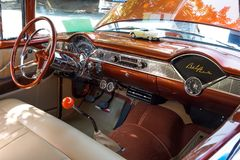 1956 Chevy Bel Air Dashboard Stock Fotografie