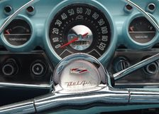 Chevy Bel Air dashboard Stock Image