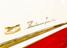 Chevy Bel Air-embleem op 1957 Chevy Royalty-vrije Stock Foto
